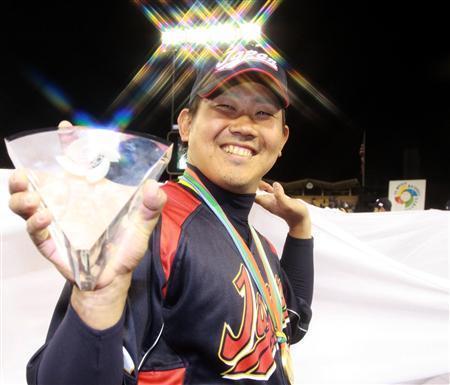 MVP獲得の松坂「岩隈くんに悪いな」と謙遜 WBC