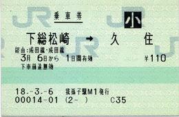 下総松崎⇒久住 経由:成田線・成田線