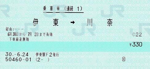 連続1 伊東⇒川奈