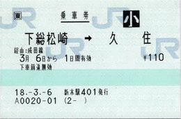 下総松崎⇒久住 経由:成田線