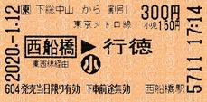 下総中山から西船橋⇒行徳 2020.-1.12