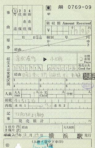 出補 京成金町⇒小田原 経由日暮里 2019.12.24