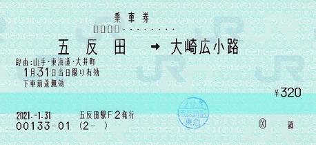 五反田⇒大崎広小路 21.21.-1.31