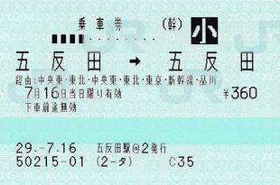五反田⇒五反田 85ミリ