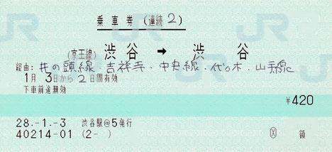 続2 (京王線)渋谷⇒渋谷 28.-1.-3
