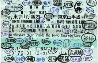 東京山手線内→東京山手線内 経由:中央東・南武
