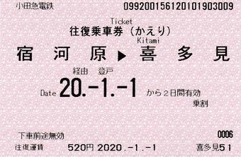 復 宿河原⇒喜多見 経由登戸 2020.-1.-1