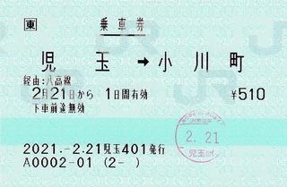 児玉⇒小川町 2021.-2.21