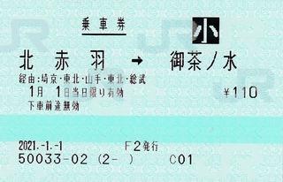 北赤羽⇒御茶ノ水 経由埼京・総武 2021.-1.-1 -