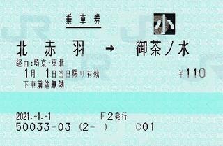 北赤羽⇒御茶ノ水 経由埼京・東北 2021.-1.-1 -