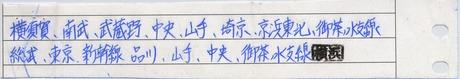 出補 新川崎⇒秋葉原 別紙
