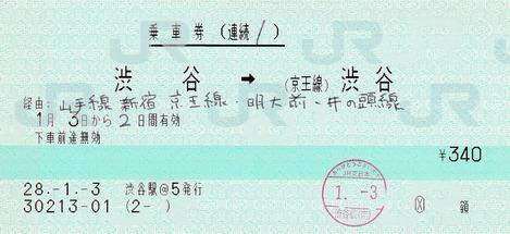続1 渋谷⇒(京王線)渋谷 28.-1.-3
