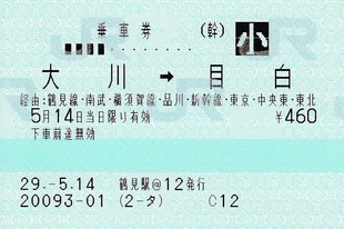 大川⇒目白 経由:横須賀線