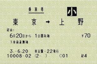 東京⇒上野 経由: 経4