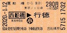 船橋から西船橋⇒行徳 2020.-1.12
