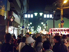 2010天神祭り25日 20:00天神橋筋商店街