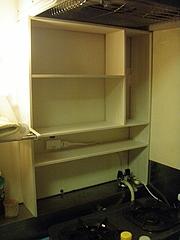 20090715DIY キッチンの作りつけ的棚