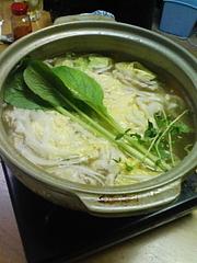 20091112自炊部野菜しゃぶしゃぶ(小)シメ