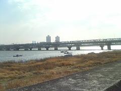 20100205淀川を進む伝法漁協の雄姿?