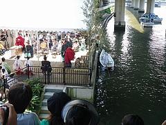 2010天神祭り24日 7:30矛流し神事