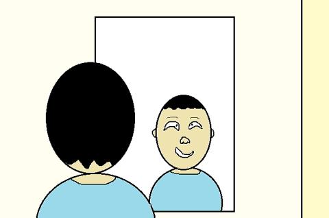 何回も鏡を見てしまう