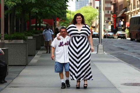 体重127キロの大柄な女性モデル2
