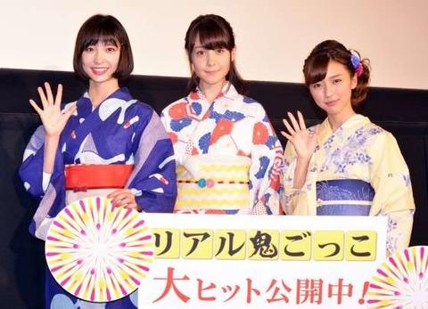 トリンドル玲奈、篠田麻里子、真野恵里菜2