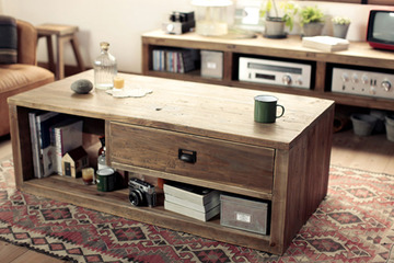 wide coffee table