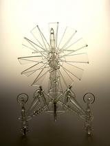 柳建太郎 ランプ「風力探査機/向日葵」