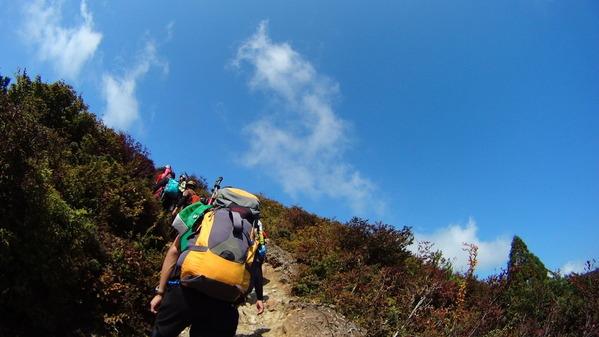 武奈ヶ岳 稜線