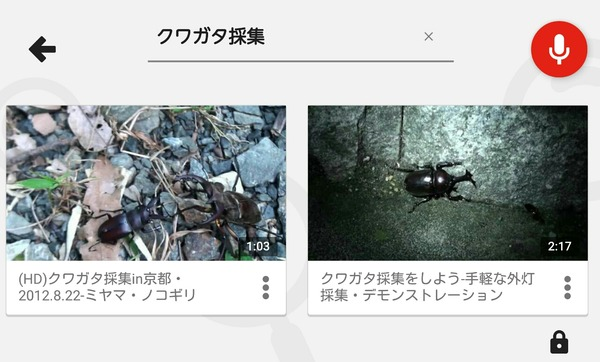 YouTubekids 検索