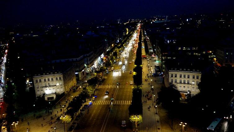 凱旋門 夜景