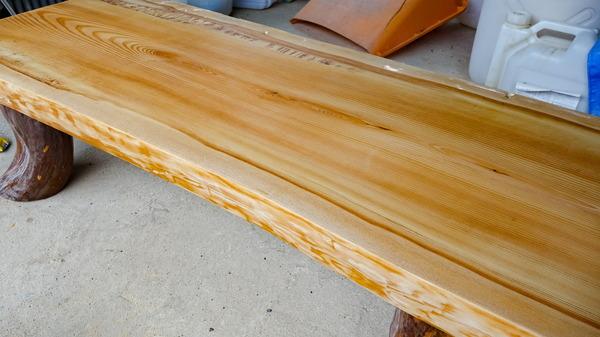 一枚板 檜 座卓