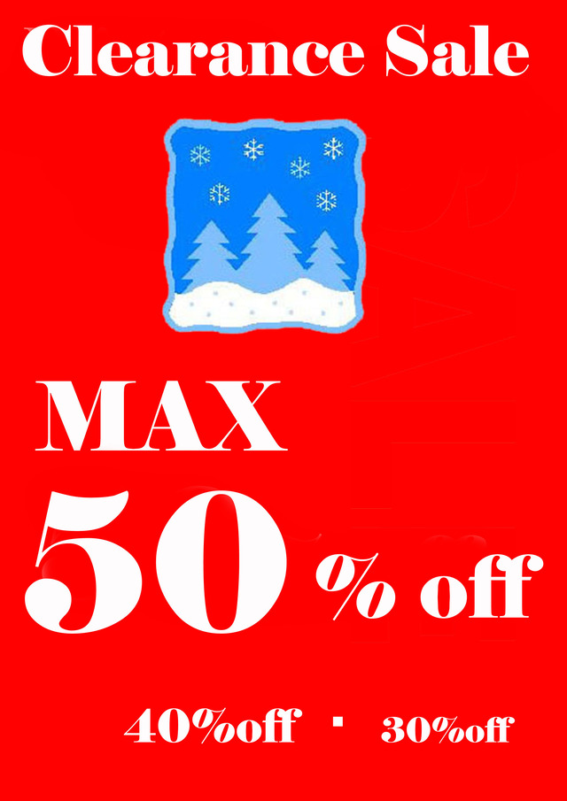 winter clearance sale MAX50-POP