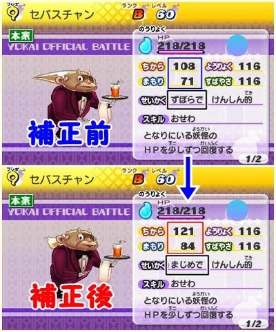 けんしんてき(比較)
