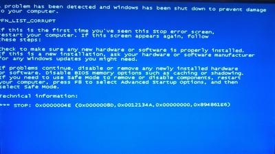 PFN_LIST_CORRUPT_Windows_7