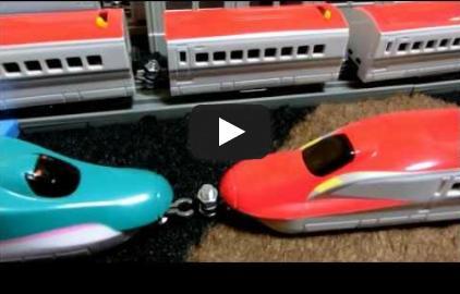 [動画]スーパーこまち - ダイソー プチ電車シリーズE5系+E6系スー...   大人気の新幹