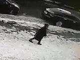 突然落ちてきた巨大つららが歩いていた女性に直撃・・ 監視カメラ映像に世界が衝撃 = カザフスタン