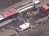 【動画】 道東自動車道で大事故 バスとタンクローリーなどが追突し14人重軽傷、うち3人意識不明