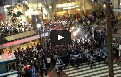 2013060404[動画]2014W杯アジア最終予選 日本 1 - 1 オーストラリア(2013/06/04) - 渋谷がカオス!