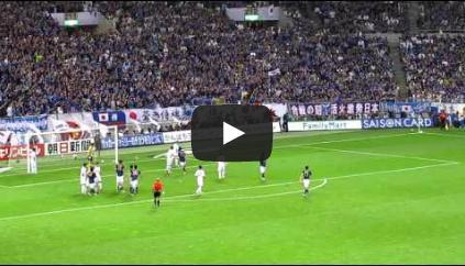 2011090202[動画]サッカーW杯アジア3次予選、日本vs北朝鮮ロスタイムのゴールシーン