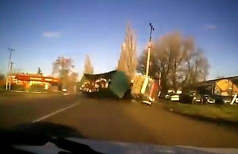 牛を乗せたトラック事故