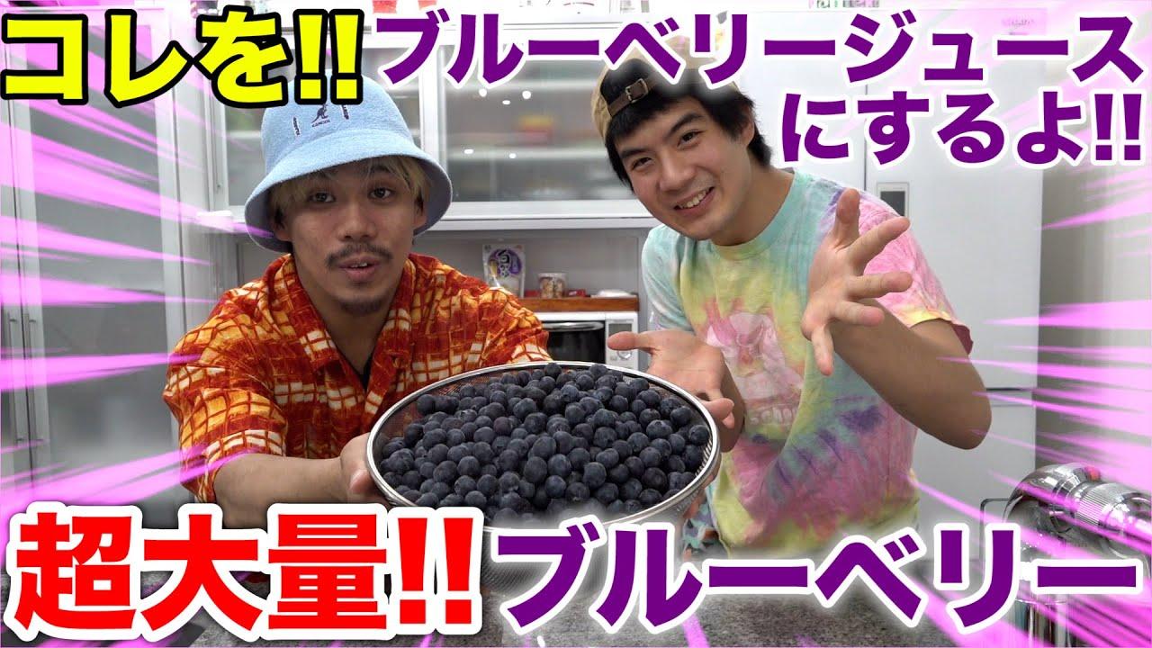 【フィッシャーズ】100%ブルーベリージュース作ってみたら予想しない展開に!?
