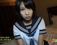 【湊莉久ごっくん】清純派ショートカット女子高生の湊莉久ちゃんがおじさんの精子を笑顔で全部ごっくんww