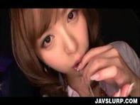 【麻倉憂】カメラ目線のバキュームフェラで次々に口内射精させてく痴女ギャルお姉さん麻倉憂ちゃんがヤバ杉ww