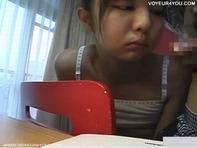 【JSフェラチオ】変態ロリコン家庭教師がJS小学生にフェラチオ性教育してる衝撃の現場を隠し撮り盗撮ンゴww