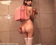 【パイパン小学生】ランドセル背負ったJS小学生パイパン幼女神田るみちゃんの着エロイメージビデオで今日は抜いてみるかww