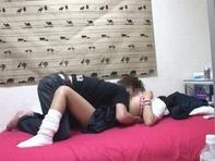 【ハメ撮りJC盗撮】ちゅうがくせいらしきロリっ娘が彼氏の部屋でイチャイチャ69とか騎乗位とかお楽しみの現場を隠し撮りハメ撮り盗撮ww