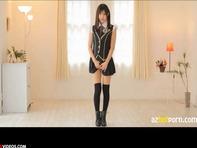 【葵つかさ】AKB48コスの葵つかさちゃんが着衣セクロス48手にチャレンジwカメラ目線フェラ&手コキ乳首舐めンゴww