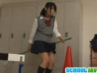 【スマタ女子高生】角オナニーをロリコン先生に見つかって発情レイプwノーパン制服でパコパコ立ちバックww